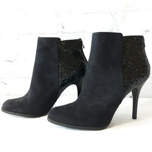 Mossimo high heeled ankle boots with sparkle